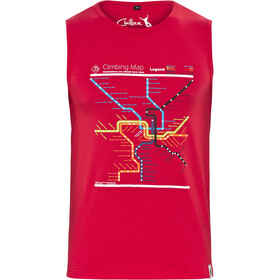 Chillaz Calanques Maps Camisa sin mangas Hombre, red